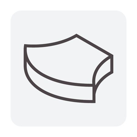 Concrete paver block floor icon, editable stroke. Stockfoto - 129298499