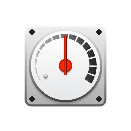 Gauge meter vector icon  design on white.