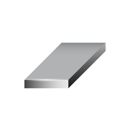 Vector icon of steel plate product icon for steel production industrial graphic design element.