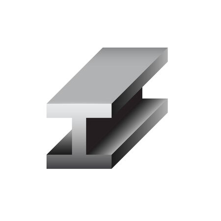 Vector icon of steel beam product icon design for steel production industrial graphic design element.