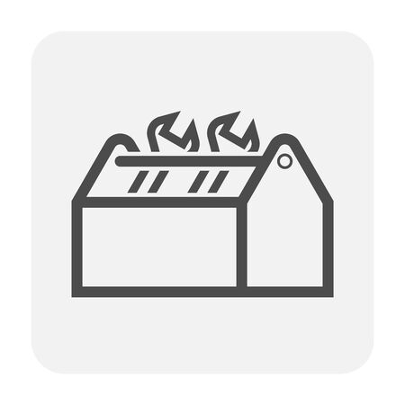 Plumbing and tool icon design, black and outline.