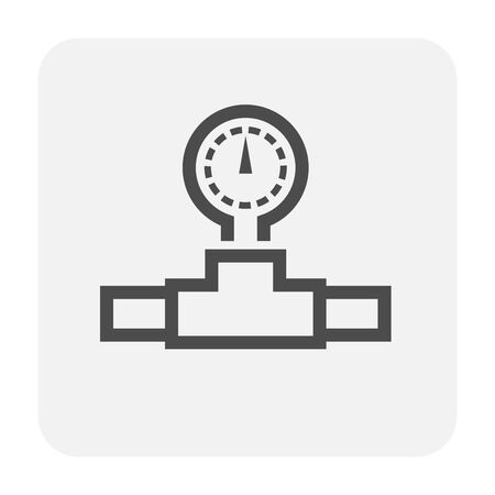 Meter icon design, black and outline.