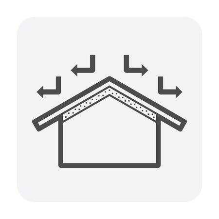 Roof and home icon design.