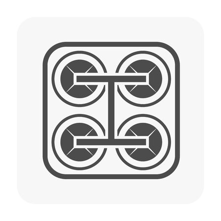 Water treatment plant icon for water treatment work.