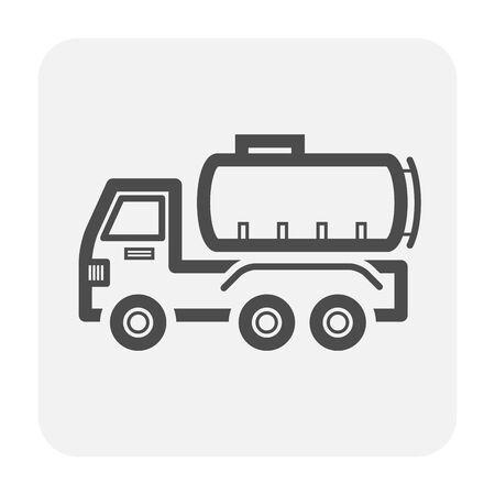 Oil truck icon design, black color.