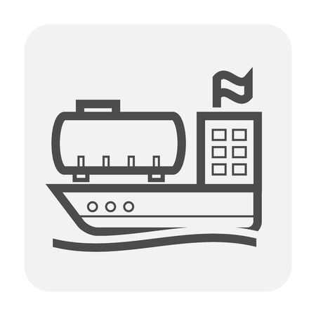 Tanker and gas shipping icon design.