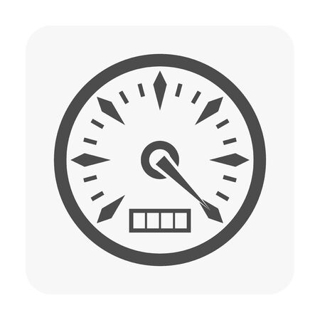 Gauge meter icon on white. Illustration