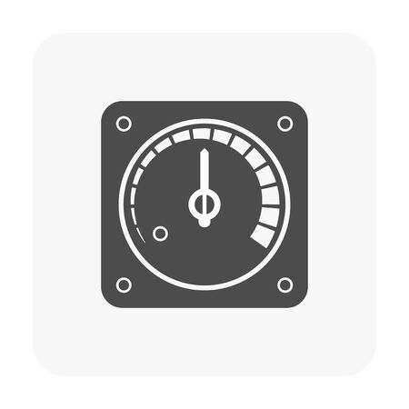 Gauge meter icon on white background.