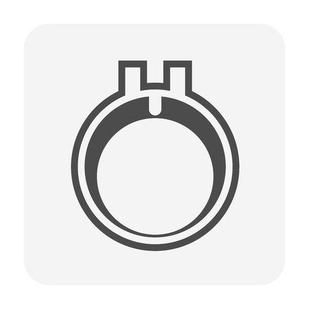 Air compressor part of air conditioner system icon design.