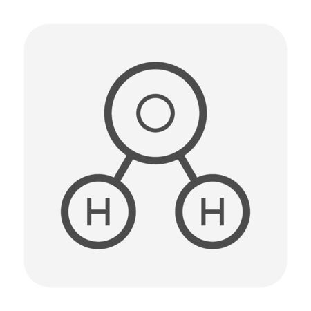 Oxygen molecule vector icon design.