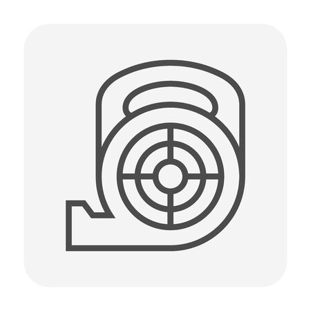 Air duct cleaning tool icon, 64x64 perfect pixel and editable stroke.