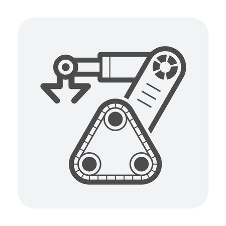 Robot arm icon on white.