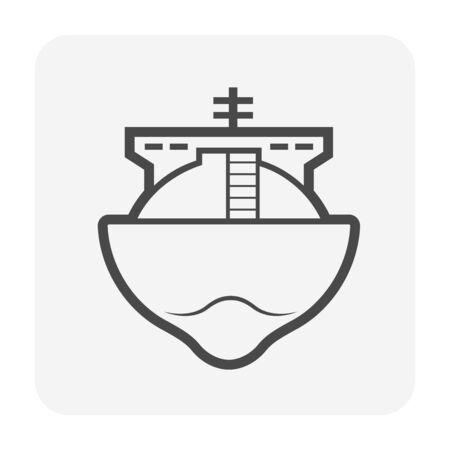 Tanker oil and gas vector icon design for oil gas transportation concept design. Illustration