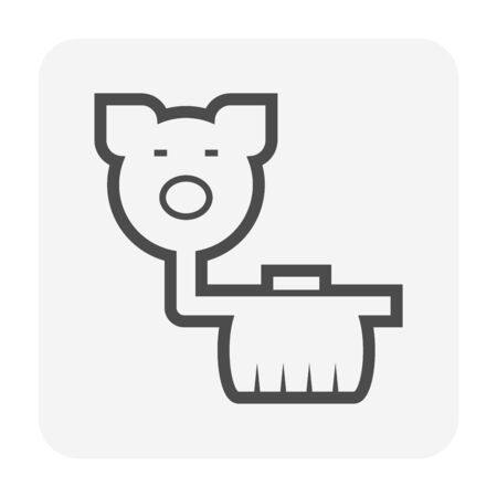 Pig farm and septic tank icon design.