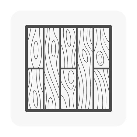 Wood floor and material icon. Illustration