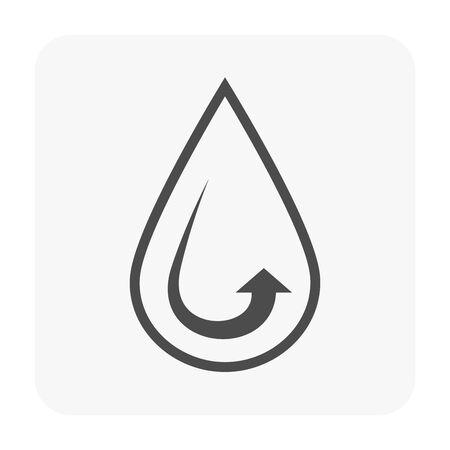Water drop icon design for water treatment work. Ilustração