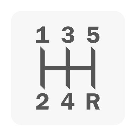Car dashboard symbol on white. Иллюстрация
