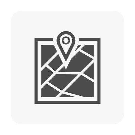GPS icon on white.  イラスト・ベクター素材