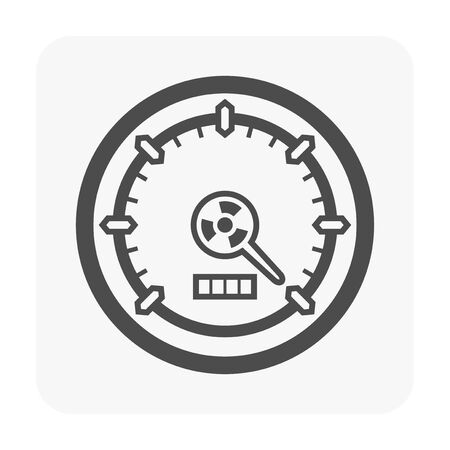 Gauge meter icon on white. Illustration