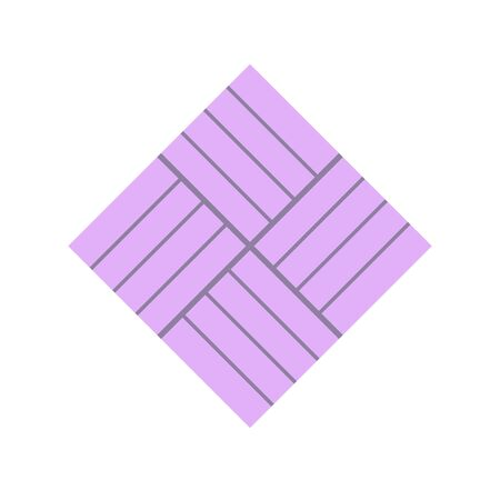 Concrete paver block brick floor icon for landscaping design.  イラスト・ベクター素材