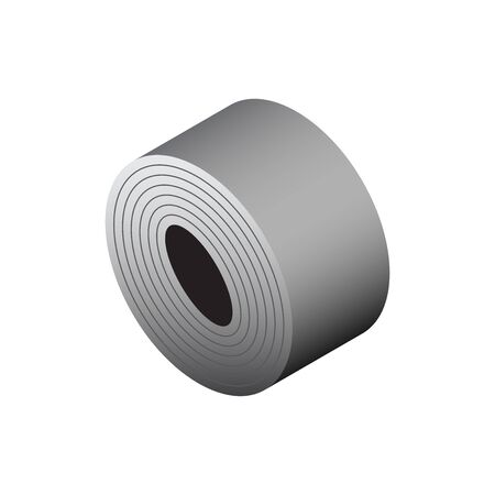 Vektorikone des Stahlrollenproduktikonendesigns für industrielles Grafikdesignelement der Stahlproduktion.
