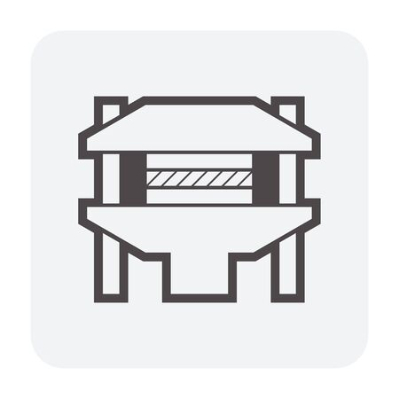 Plywood production industry icon design, black and outline. Illustration