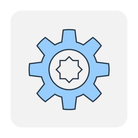 Config or setting icon design, editable stroke. Ilustração