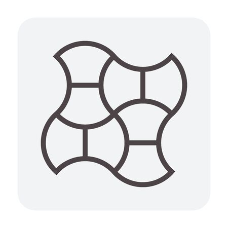 Concrete paver block floor icon, editable stroke. Stock Vector - 132478413