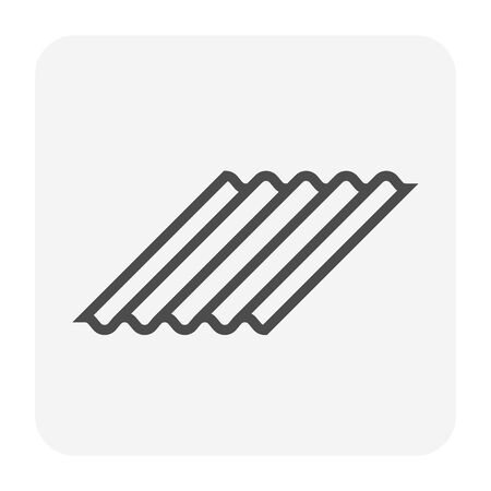 Roofing material icon design, editable stroke.