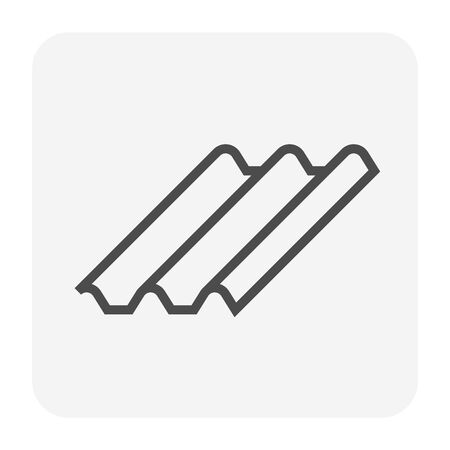 Roofing material icon design, editable stroke. Çizim