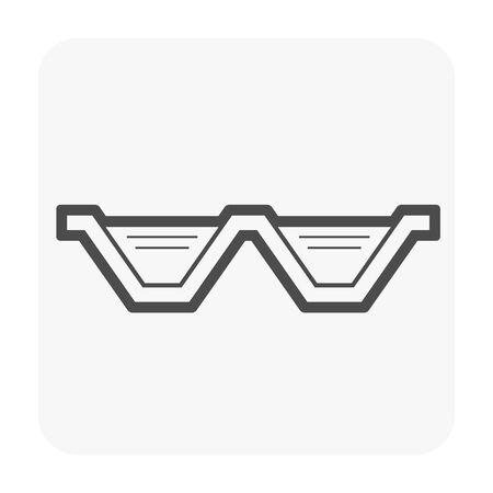 Water treatment icon design, black color.