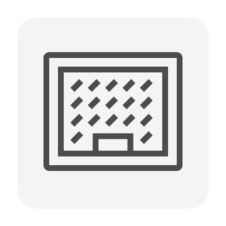 Sump pit cover icon, 64x64 perfect pixel and editable stroke.