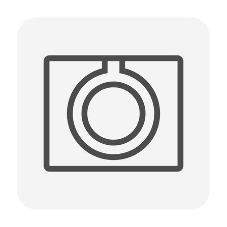 Street gutter icon, 64x64 perfect pixel and editable stroke. Illustration