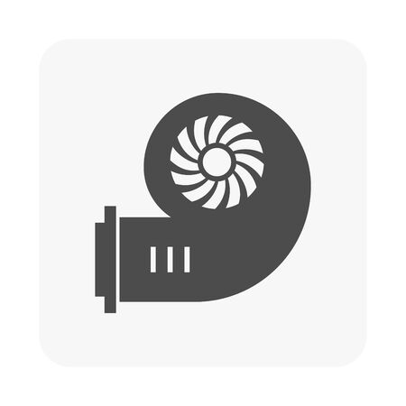 Air duct pipe cleaning tool icon.