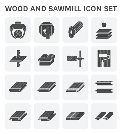 Wood timber and wood floor and wood testing icon set design.