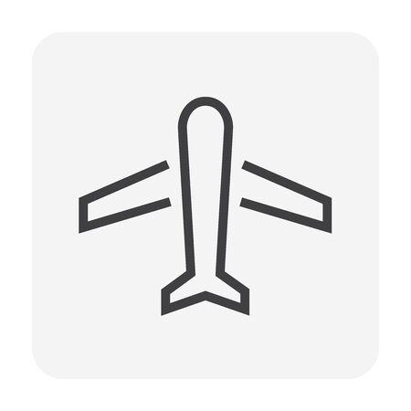 Airplane vector icon design for transportation concept design, editable stroke.