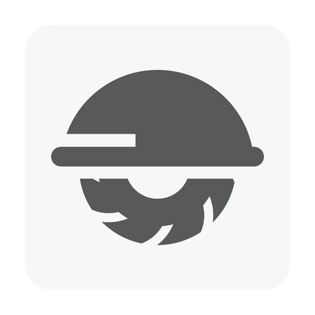 Construction tool and engineering icon on white.