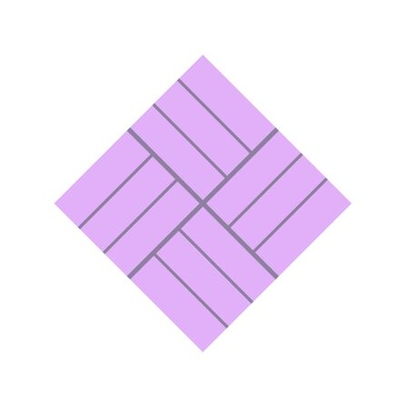 Concrete paver block brick floor icon for landscaping design.  イラスト・ベクター素材