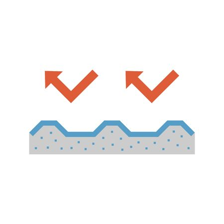 Roof insulation icon design.