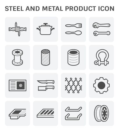 Steel and metal product vector icon design. Stock fotó - 134325489