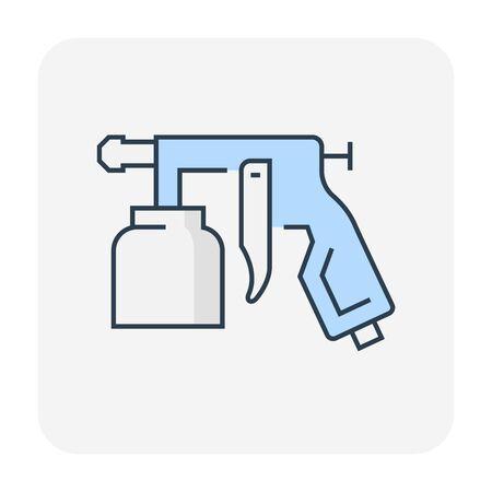 Paint gun icon design, , editable stroke. Illustration