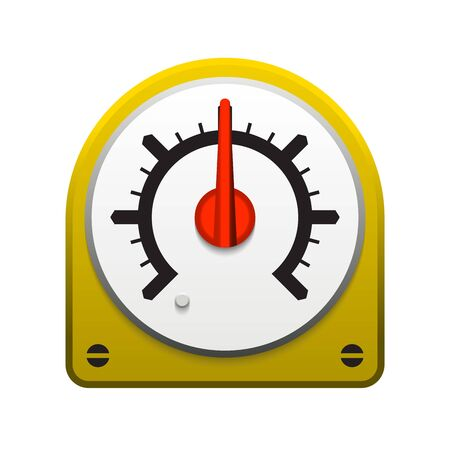 Gauge meter vector icon  design on white. Reklamní fotografie - 134327080