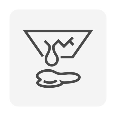Ceiling damage and water leak vector icon design for home problem graphic design element, editable stroke. Illustration