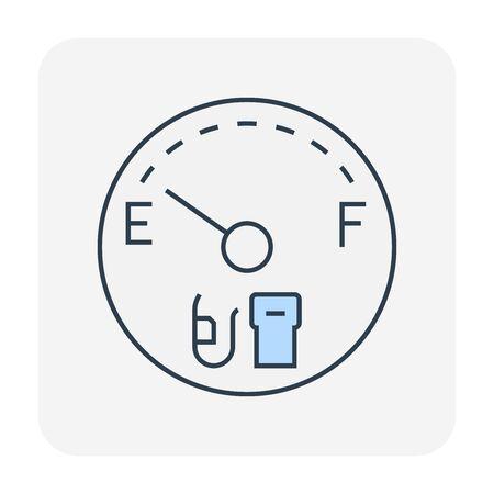 Gas gauge icon design, editable stroke.