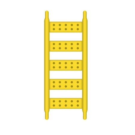 Ladder part of scaffolding icon design.