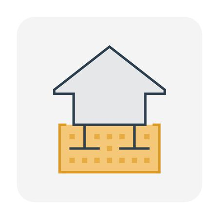 Geotechnical engineering and soil testing icon, editable stroke.