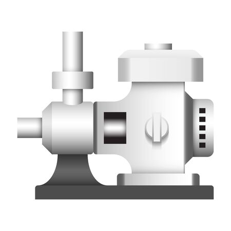 Engine and water pump icon design.