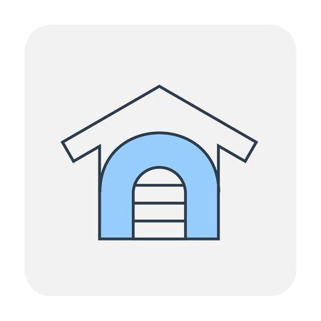 Home icon design, editable stroke. Ilustração