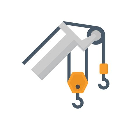 Crane hook vector icon design on white background.