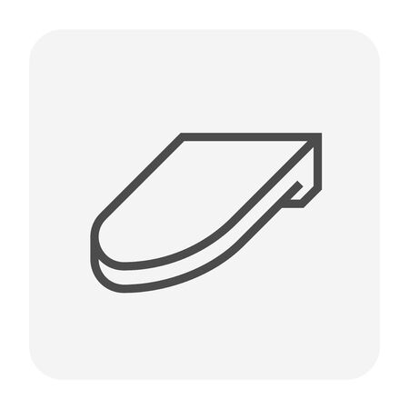 Roofing material icon design, editable stroke.  イラスト・ベクター素材